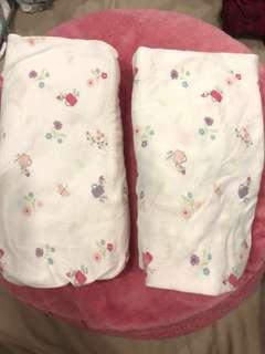 2 Mothercare Crib sheet printed