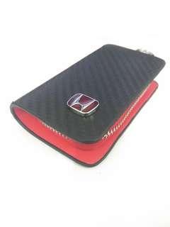 Dompet gantungan kunci dan stnk mobil Honda Carbon