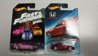 Hotwheels Lot jdm Honda s2000