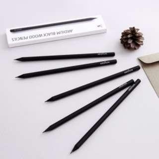 🇰🇷韓國正版 (Y019066) Ardium(4900)鉛筆套裝 Black Wood Pencils 5支裝
