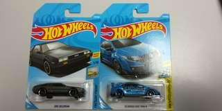 Hotwheels lot Dmc delorean , Civic type r