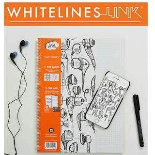 🚚 WHITELINES LINK notebook A5 squared