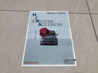 Ori Daihatsu mira AVY japan catalog