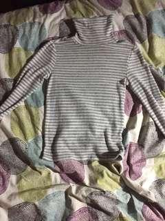Striped white ans grey turtle neck from GARAGE