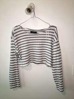 Glassons crop long sleeve