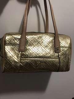 Guess Logo Gold Handbag