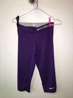 Purple adidas tights