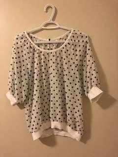 Aeropostale Polka Dot Top