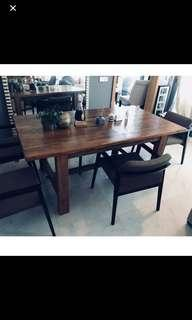 High End Dining Table & Chairs (Selling in a Set)