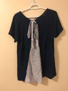 Navy Blue Tie Top