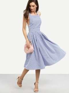 Striped criss cross dress