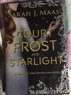 Hardcover a court of frost and start light novella by SJM