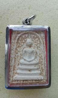 Old Wat RahKang Somdej. Made from wooden mould. Soak in holy water urn. Interested pm