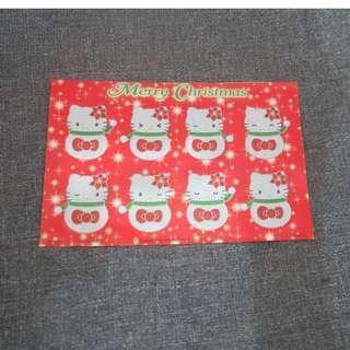 hello kitty聖誕貼紙