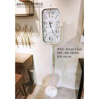 White Antique Clock
