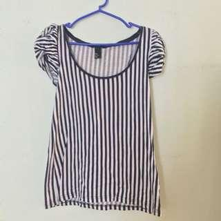 H&M Stripe T Shirt