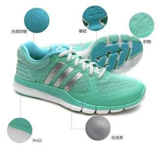 (7成新) adidas愛迪達馬卡龍配色跑步健身訓練女鞋運動鞋M29661