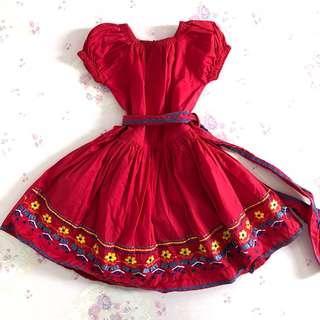 Preloved Red Gypsy Girl Dress