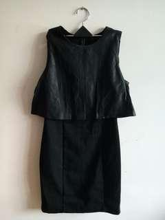 🚚 ZARA 黑色拼接造型洋裝