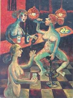🚚 裸女飲酒