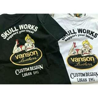 Vanson Leathers X Skull Works Lucky Lady Shirt