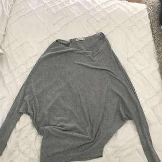 Zara grey knit top