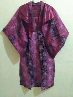 #MASIH_READY Dress bolero batik maroon