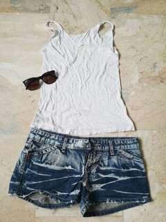Denim shorts + sando top FOR FREE!!!