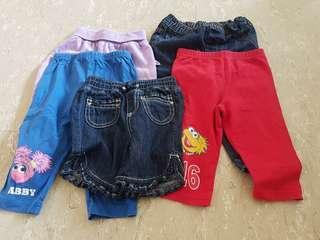 Girl shorts and pants