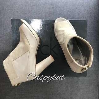 Calvin Klein Peep Toe Heels