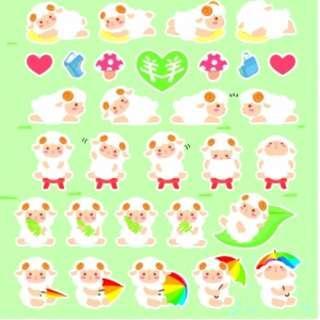 🇰🇷韓國正版 (Y019032) LATECH 裝飾貼紙 海綿貼紙 羊CA-001