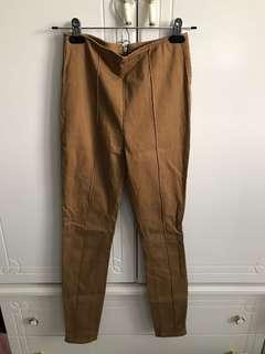 FOREVER 21 Camel Pants with Zipper Details