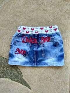 Love you 🎿 skirt