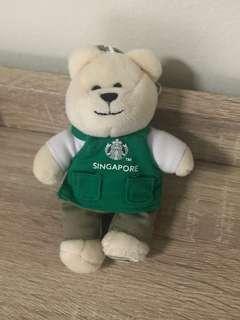 Starbucks Barista Bear Keychain Collectible