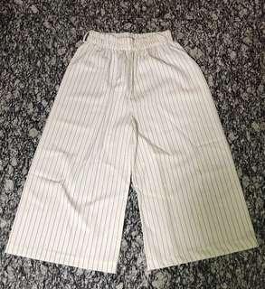 White striped culotte