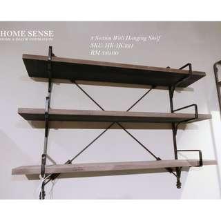 3 Section Wall Hanging Shelf