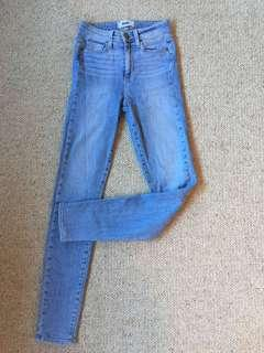 Paige Denim Light Blue Denim Skinny Jeans