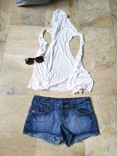 American Eagle Denim shorts 🇺🇲 + hoodie sando (FOR FREE)