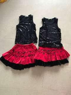 Almost new!! 2 sets of top and skirt