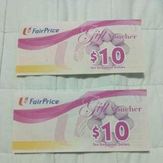 Ntuc Voucher 20 dollars going for 17 dollars