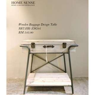 Wooden Baggage Design Table