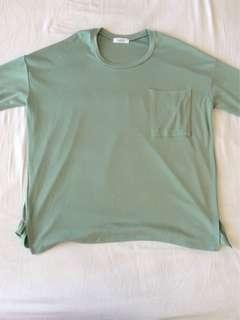 K-fashion knit boyfriend shirt
