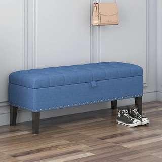 🚚 90x40cm Storage Bench Ottoman Stool Chesterfield Chair