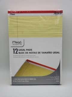 Mead 59610 美國黃色Legal Pad 12本裝 8.5x11.75英寸
