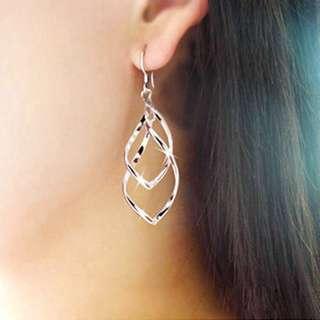 anting korea spiral good quality korean earrings silver