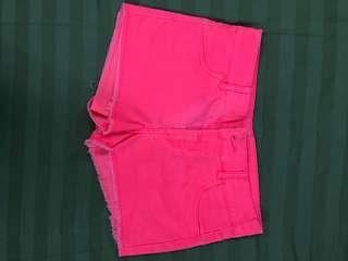 H&M Hot Pink shorts