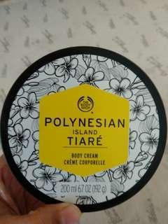 The bodyshop body cream polynesian island tiare