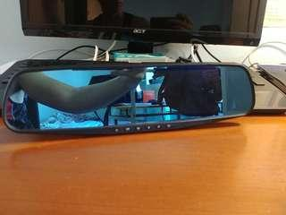 Dash Cam with integrated Rear View Mirror