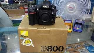 Kredit Nikon D800 BO Garansi 1 Tahun Resmi
