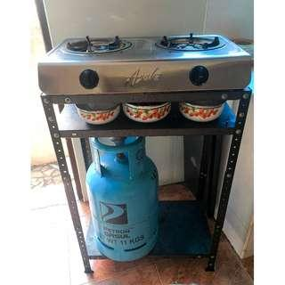 Cooking Set with Stove, Gas and Stand